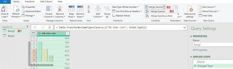 xử lý dữ liệu bằng power query