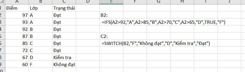 Các hàm mới trong Excel 365 2